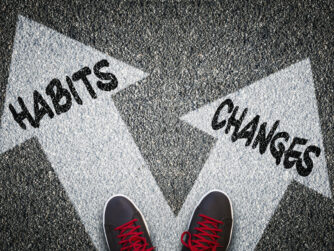 Habits and Changes sign