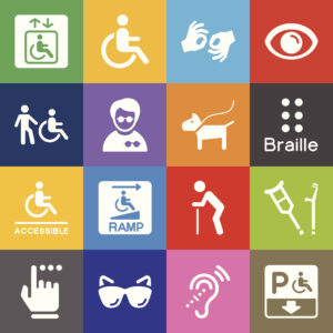 Disability Icons in various colors