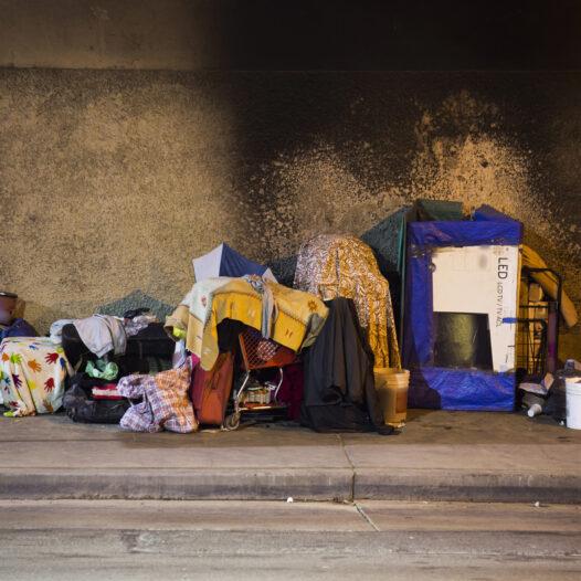 A Los Angeles Homeless encampment.