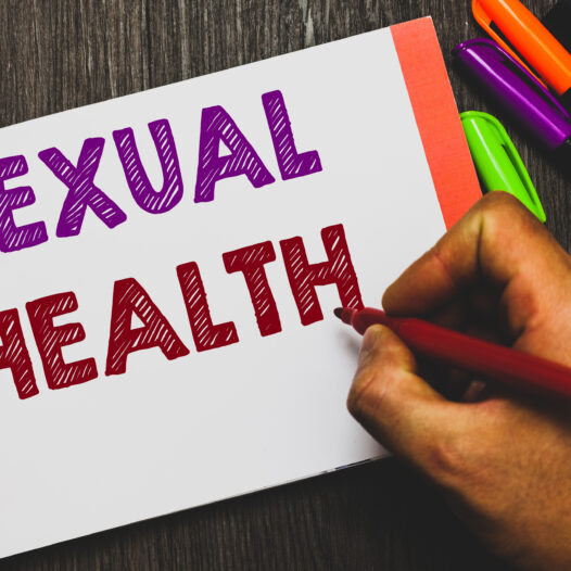 Hand writing showing Sexual Health.